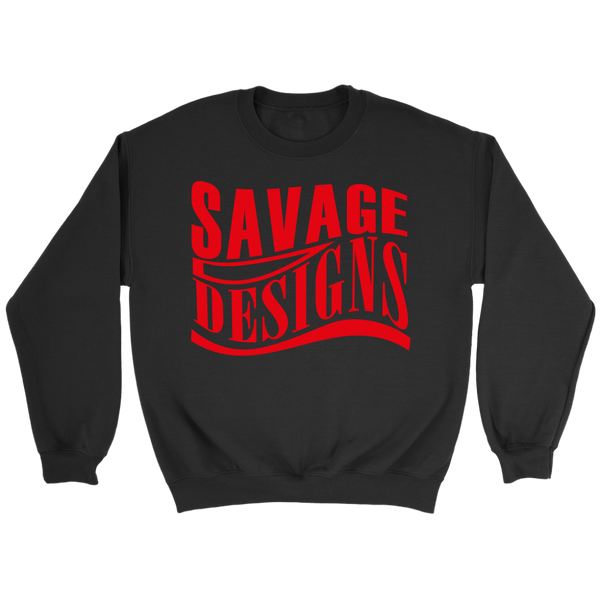 Savage Designs Warped Curve Red Sweatshirt- 7 Colors