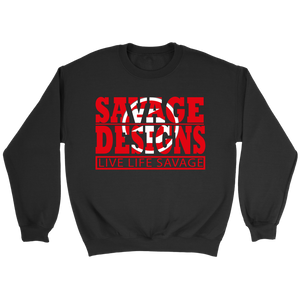 The Savage Within Red/White Sweatshirt- 6 Colors