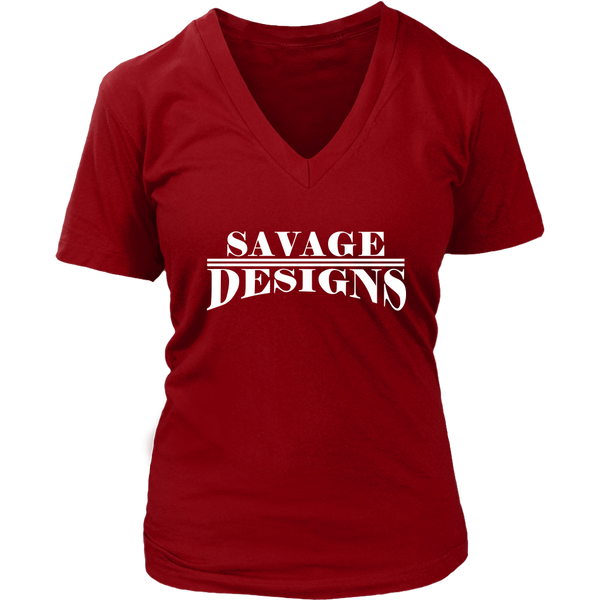 Savage Designs Classic Modern White V-Neck- 11 Colors