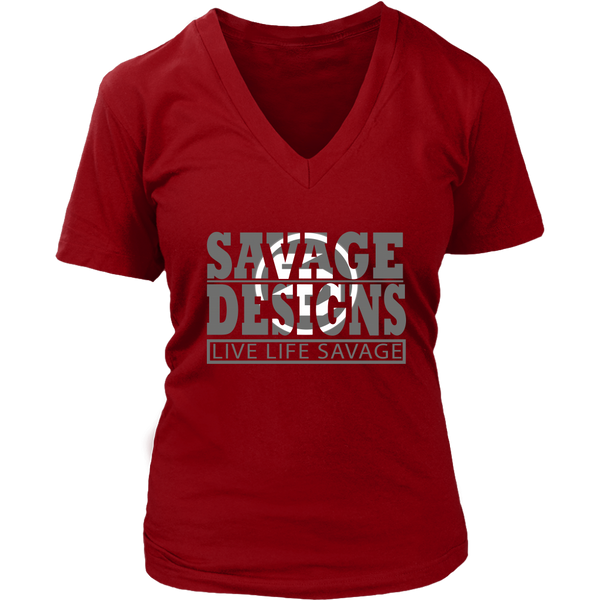The Savage Within Grey/White V-Neck- 8 Colors
