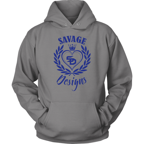 Savage Designs Heart of Hearts Royal Blue Hoodie- 7 Colors