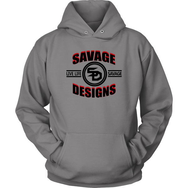 Savage Designs Dead Focus Black/Red Hoodie- 3 Colors