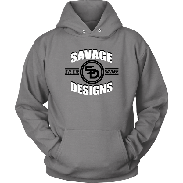 Savage Designs Dead Focus White/Black Hoodie- 10 Colors