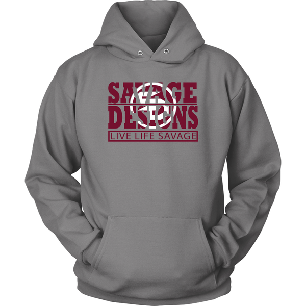 The Savage Within Maroon/White Hoodie- 5 Colors