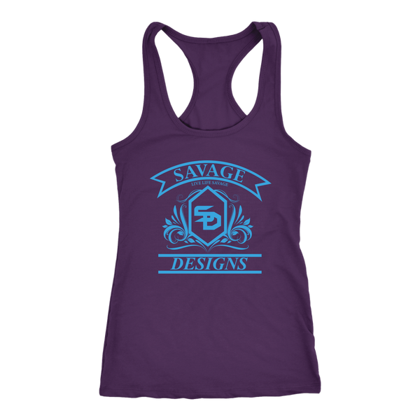 Savage Designs Diamond Floral Turquoise Tank Top- 10 Colors