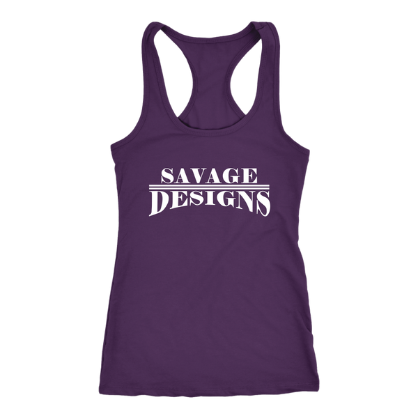 Savage Designs Classic Modern White Tank Top- 11 Colors
