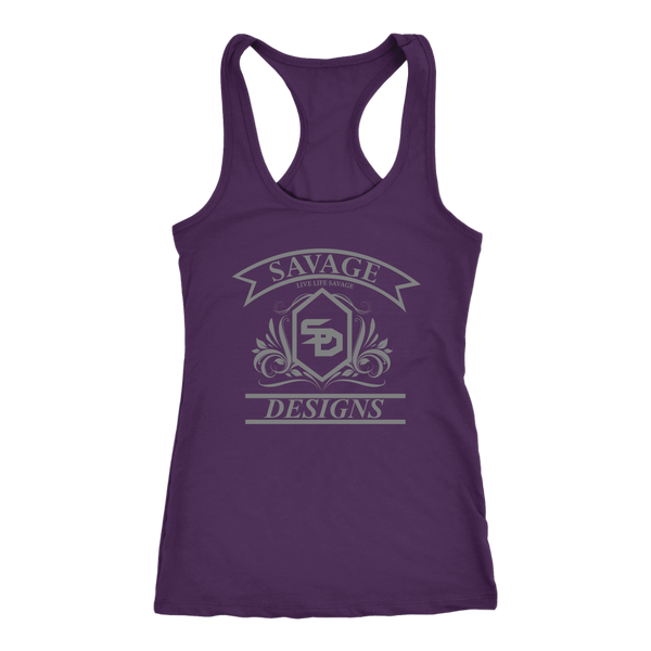 Savage Designs Diamond Floral Grey Tank Top- 10 Colors