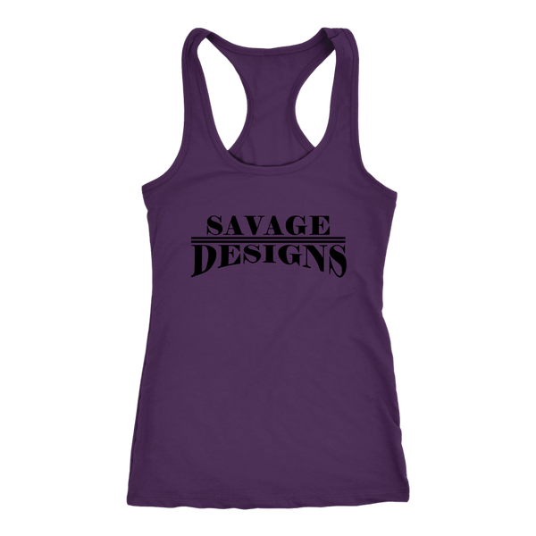 Savage Designs Classic Modern Black Tank Top- 13 Colors