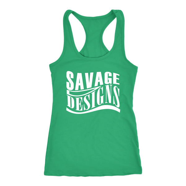 Savage Designs Warped Curve White Tank Top- 11 Colors