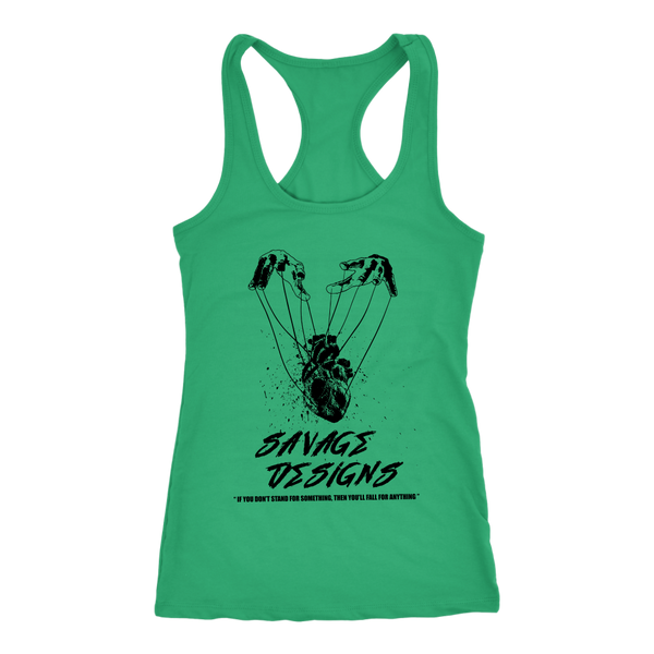 Savage Designs Heart Strings Black Tank Top- 13 Colors