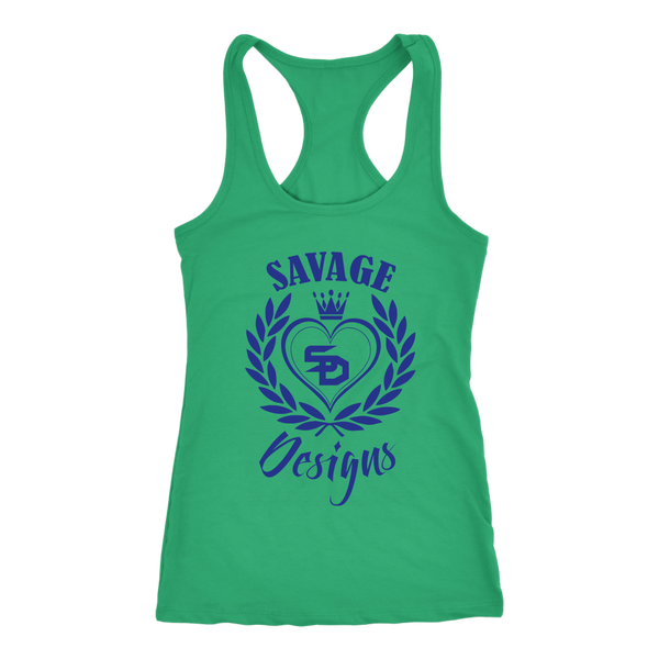 Savage Designs Heart of Hearts Royal Blue Tank Top- 9 Colors