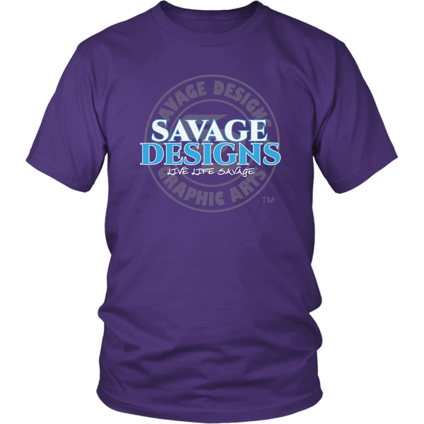 Savage Designs Faded Symbol White/Turquoise/Grey- 8 Colors