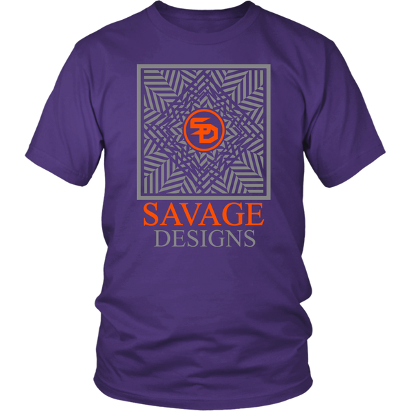 Savage Designs Optical Illusion Grey/Orange- 9 Colors