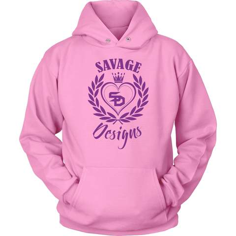 Savage Designs Heart of Hearts Purple Hoodie- 6 Colors