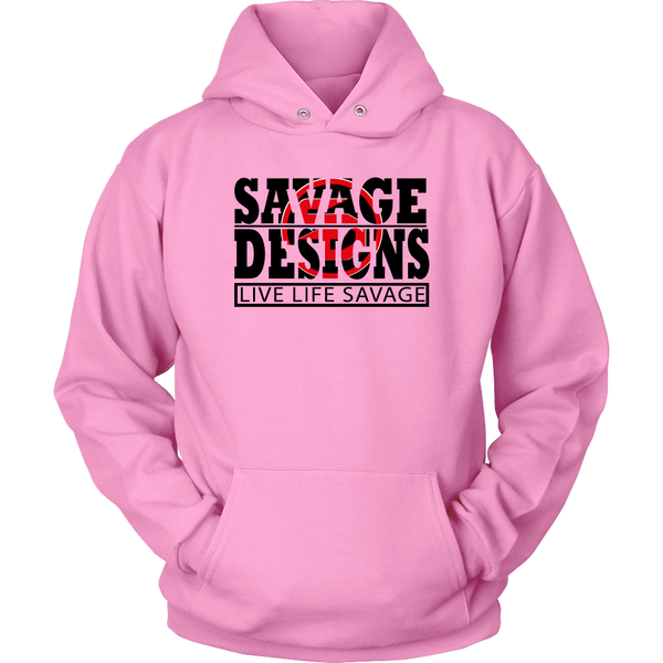 The Savage Within Black/Red Hoodie- 8 Colors