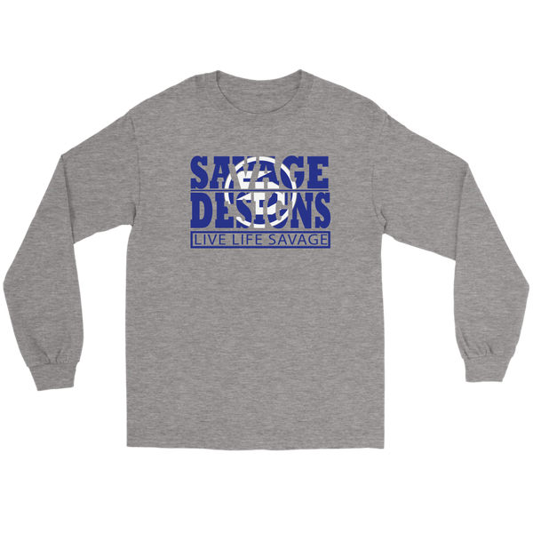 The Savage Within Royal Blue/White Long Sleeve- 6 Colors