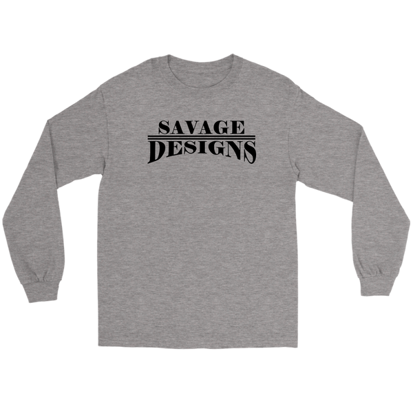 Savage Designs Classic Modern Black Long Sleeve- 11 Colors