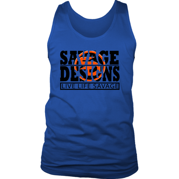 The Savage Within Black/Orange Tank Top- 8 Colors