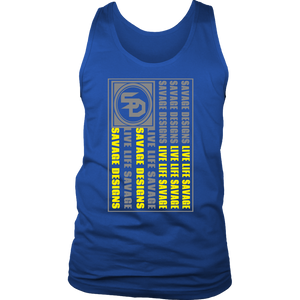 Savage Designs Flag Grey/Yellow Tank Top- 7 Colors