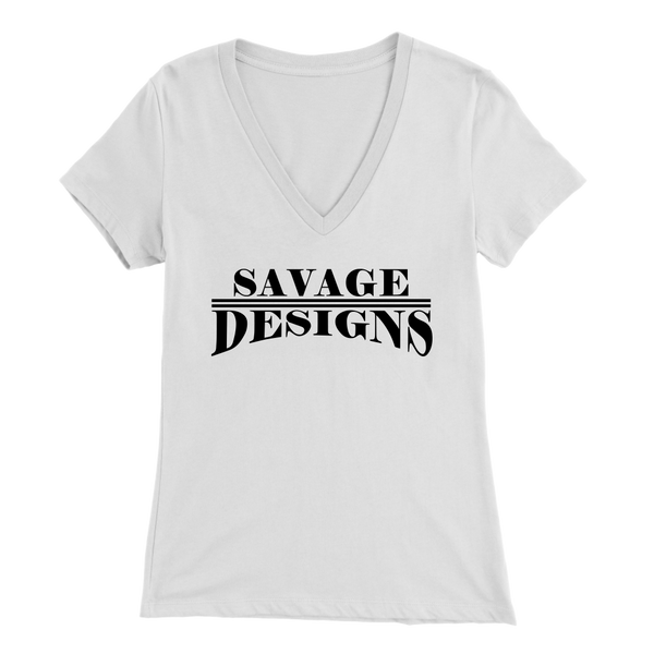 Savage Designs Classic Modern Black V-Neck- 13 Colors