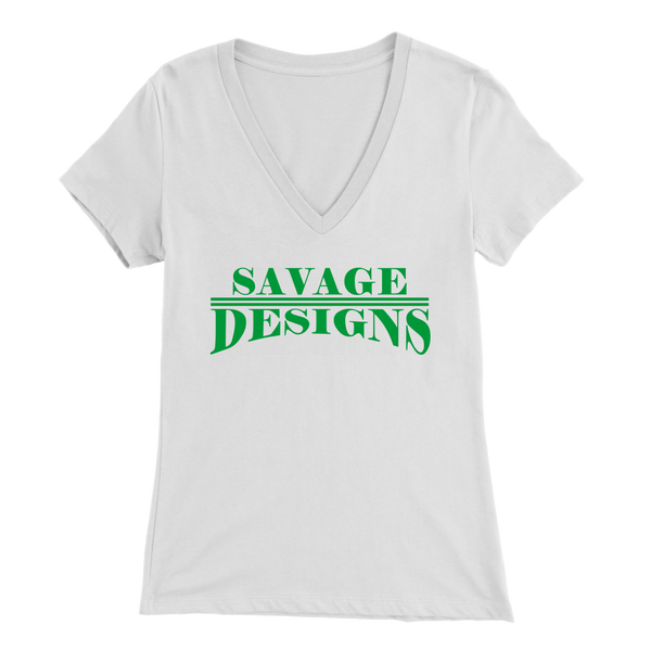 Savage Designs Classic Modern Green V-Neck- 8 Colors
