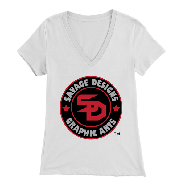 Savage Designs Symbol Patch Red/Black/Grey V-Neck- 9 Colors