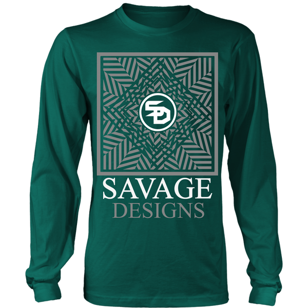 Savage Designs Optical Illusion Grey/White Long Sleeve- 8 Colors