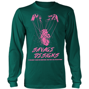 Savage Designs Heart Strings Light Pink Long Sleeve- 9 Colors