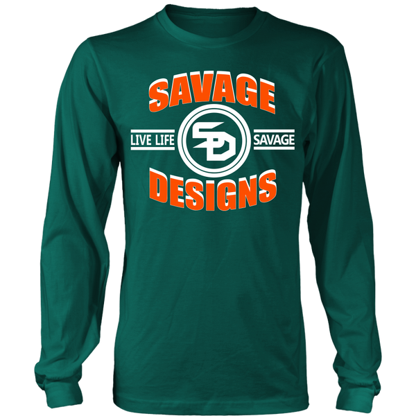 Savage Designs Dead Focus Orange/White Long Sleeve- 10 Colors