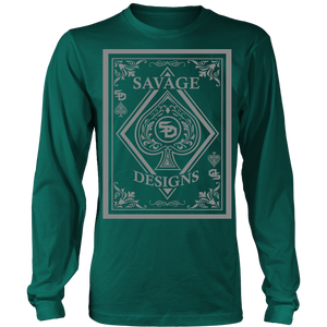 Savage Designs Ace of Spade Grey Long Sleeve- 9 Colors