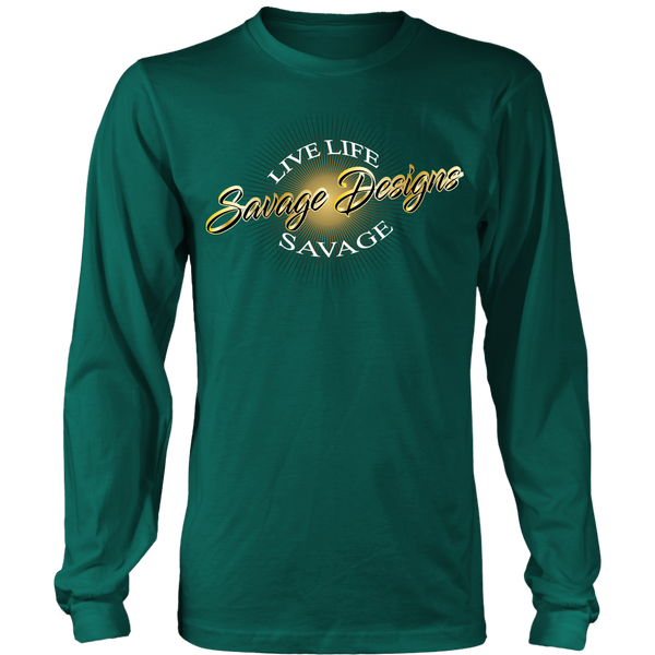 Savage Designs Sunray Flare Black and Gold Long Sleeve- 10 Colors