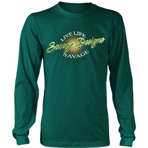 Savage Designs Sunray Flare Green and Gold Long Sleeve- 13 Colors