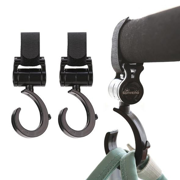 Rotate 360 Multi Purpose Stroller Hooks 2pcs
