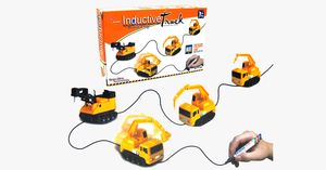 Magic Inductive Toy Truck - Draw Line Induction Rail Car