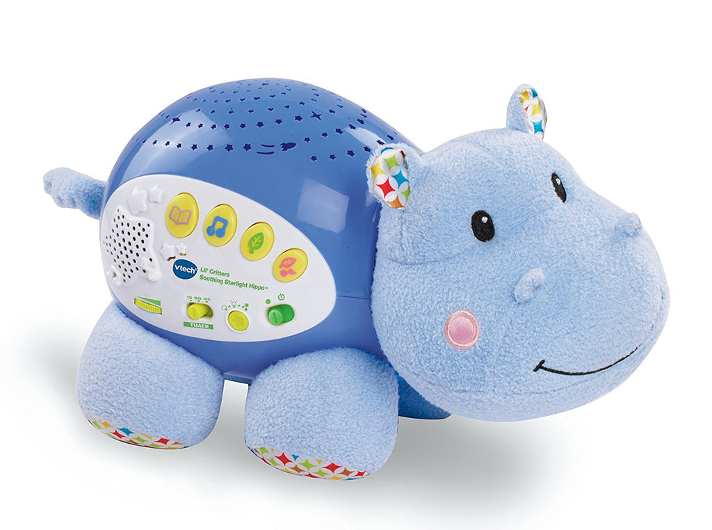 Hippo Baby Sleeping Soother/Toy with Sounds and Projection Lights