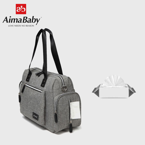 AimaBaby Dash Messenger Diaper Bag Tote for Dads