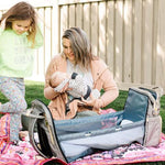 Fold-n-Go™ 3-In-One Expanding Diaper Bag Baby Portable Bassinet with Changing Station Combo