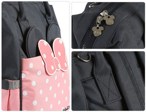 Disney Minnie/Mickey Mouse Diaper Bag Backpack - Oxford