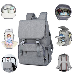 Places & Spaces Diaper Bag Backpack with USB Charging Port for Mom & Dad