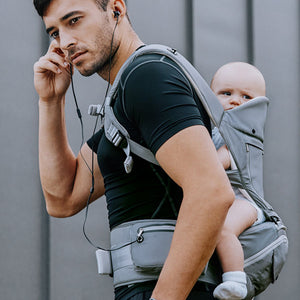Bebear Complete All Seasons SIX-Position 360° Ergonomic Baby Carrier Backpack with Hip Seat (Doctor-Approved)