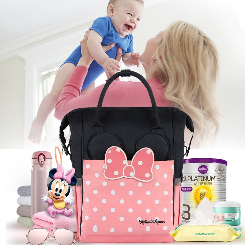 Disney Minnie/Mickey Mouse Oxford Diaper Bag Backpack