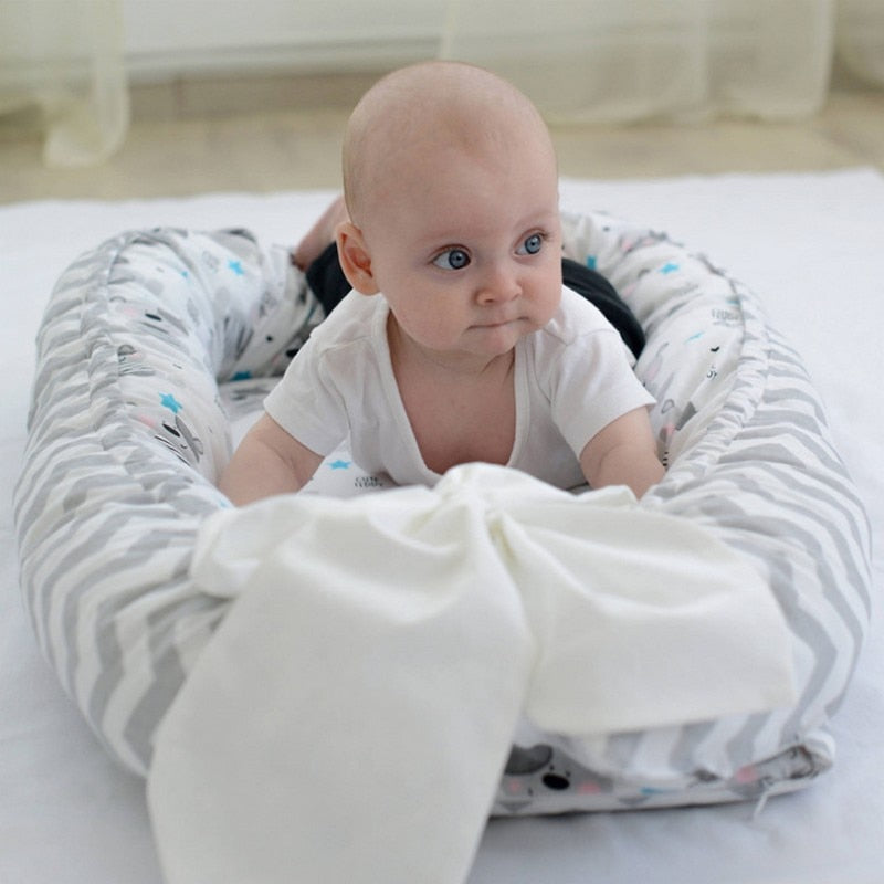 Organic Infant Snuggle Nest Safe Baby in Bed Co Sleeper