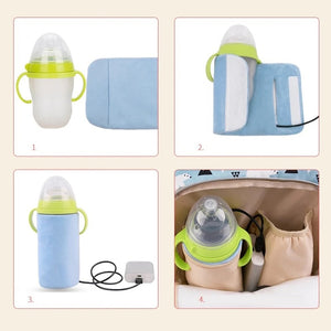 Portable Insulation USB Travel Baby Bottle Warmer