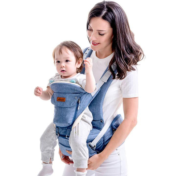 Sunveno 6 Position 360° Ergonomic All Seasons Front Back Baby Carrier with Hip Seat