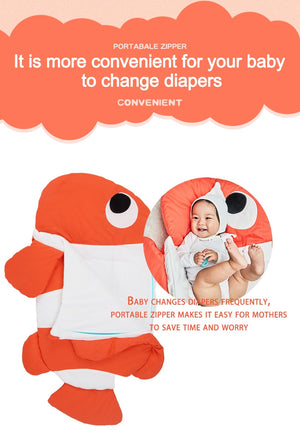 BabyJeily Cute Cartoon Shark Baby Sleeping Bag