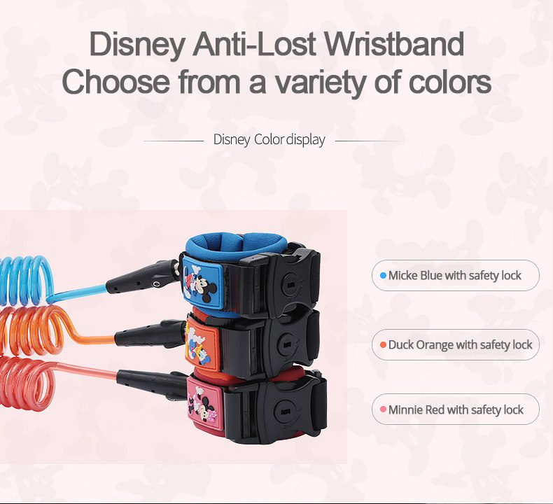 Disney Toddler & Child Anti-Lost Safety Harness Wrist Link Straps