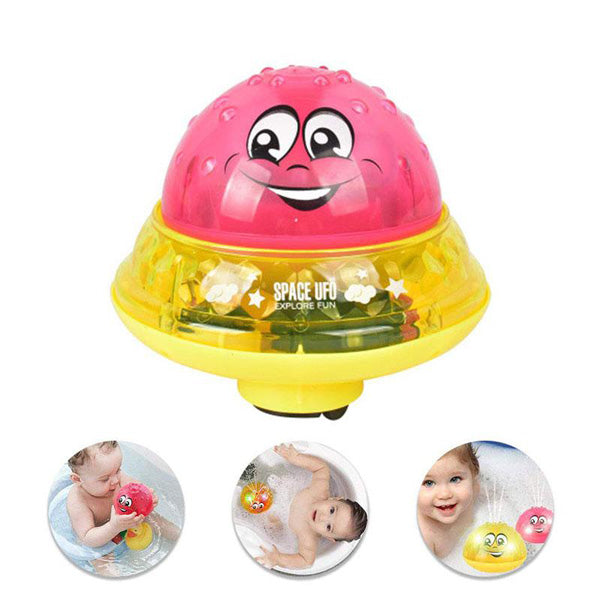 Space UFO Spray Water Baby Bath Toy with Light and Music