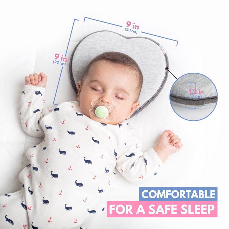 Anti Flat Head Baby Memory Foam Pillow - Preventing Flat Head Syndrome