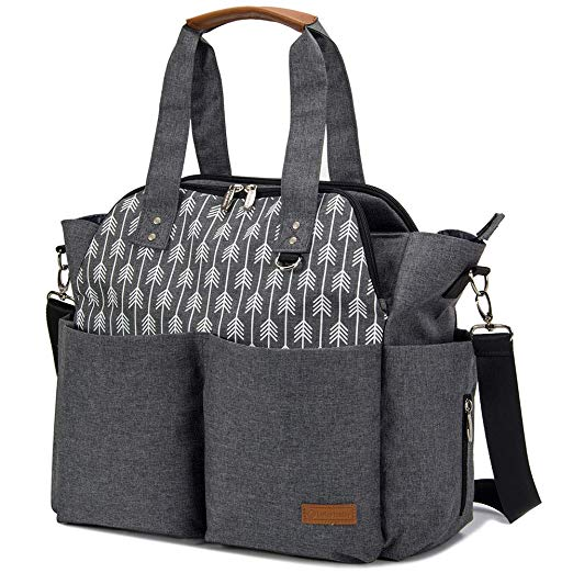Lekebaby Stylish Mom Tote Messenger Diaper Bag