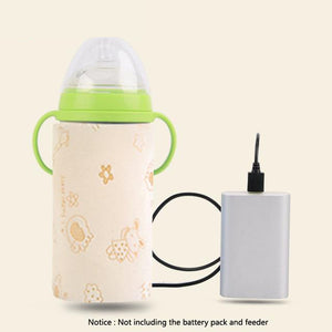 Lekebaby Portable Insulation USB Travel Baby Bottle Warmer
